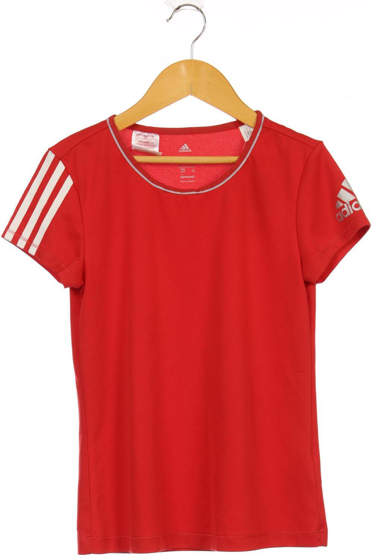 Adidas T Shirt Mädchen Oberteil Shirt Gr. DE 152 rot