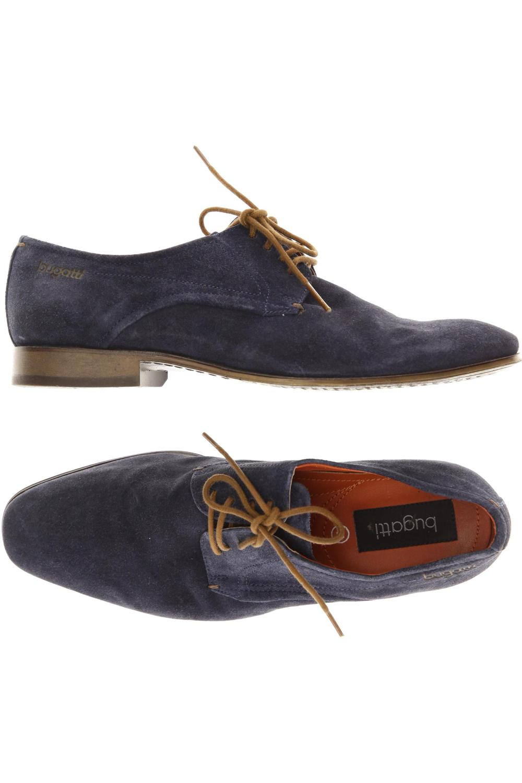 Details zu Bugatti Halbschuh Herren Slipper feste Schuhe Gr. DE 41 Leder blau #a7eb7a0