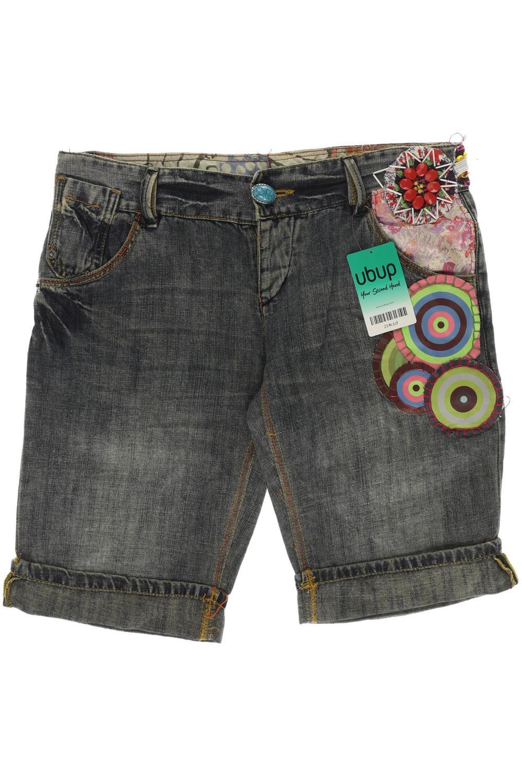 Desigual Damen Shorts 38 Kurze BaumwolleLeinenJeans Hose GrDe 8OkwXPn0