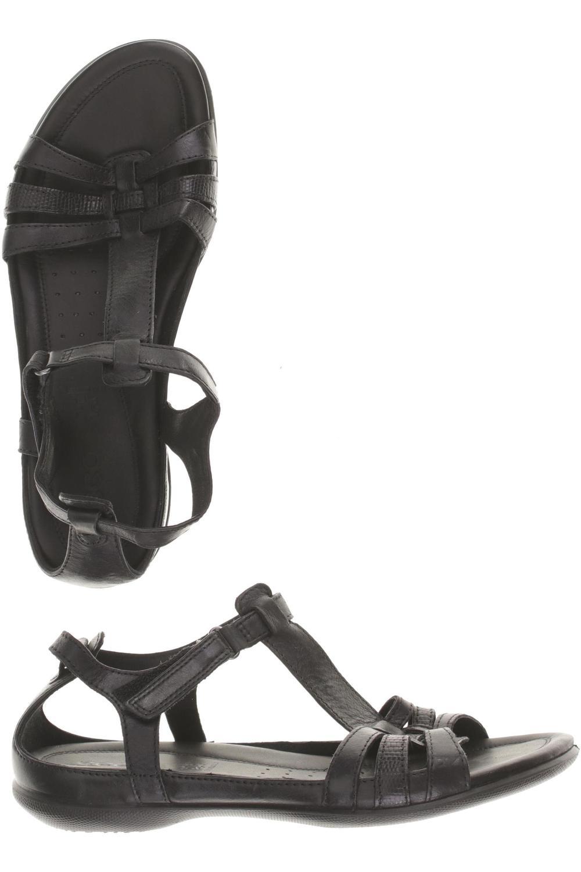 Details zu Ecco Sandale Damen Sommerschuhe Sandalette Gr. DE 39 Leder schwarz #ceade98