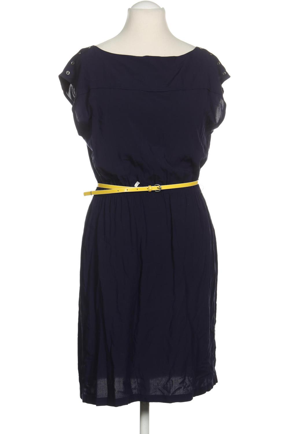 Esprit Kleid Damen Dress Damenkleid Gr. DE 15 Kunstleder, Viskose
