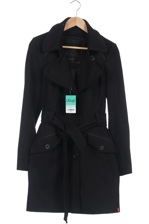 Original- authentisch Luxus Esprit Mantel Damen Jacke Parka Gr. INT M Wolle schwarz ...