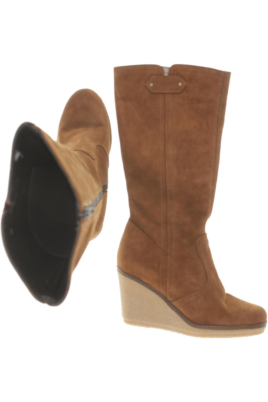 Esprit Stiefel Damen Boots Gr. DE 36 Leder braun #e225630 | eBay