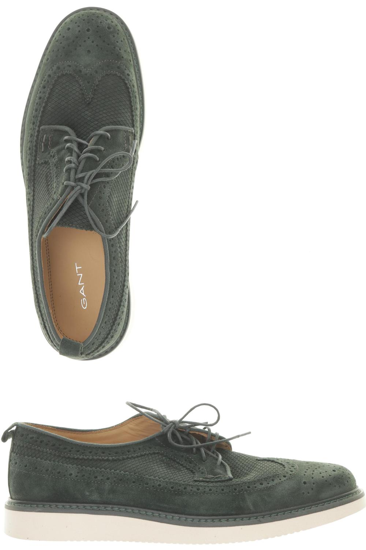 Details zu GANT Halbschuh Herren Slipper feste Schuhe Gr. DE 42 Leder grün #d9cd9c6