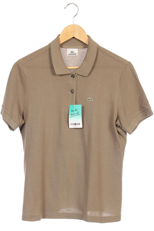huge selection of cd991 3b3dd Détails sur LACOSTE Polo Femmes Polo Shirt taille F 46 (de 44) coton beige  #3f99163- afficher le titre d'origine