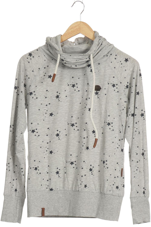 Details zu Naketano Sweatshirt Damen Hoodie Sweater Pullover Gr. M Baumwolle grau #9478f75