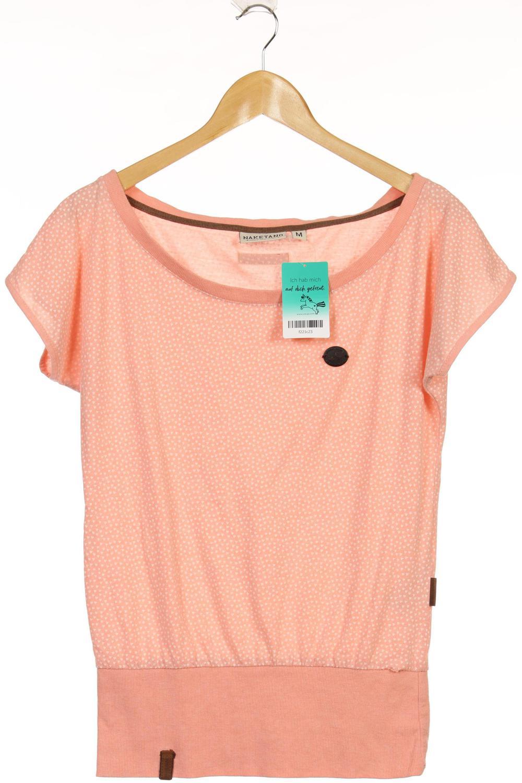 Naketano T Shirt Damen Oberteil Shirt Gr. M Baumwolle pink