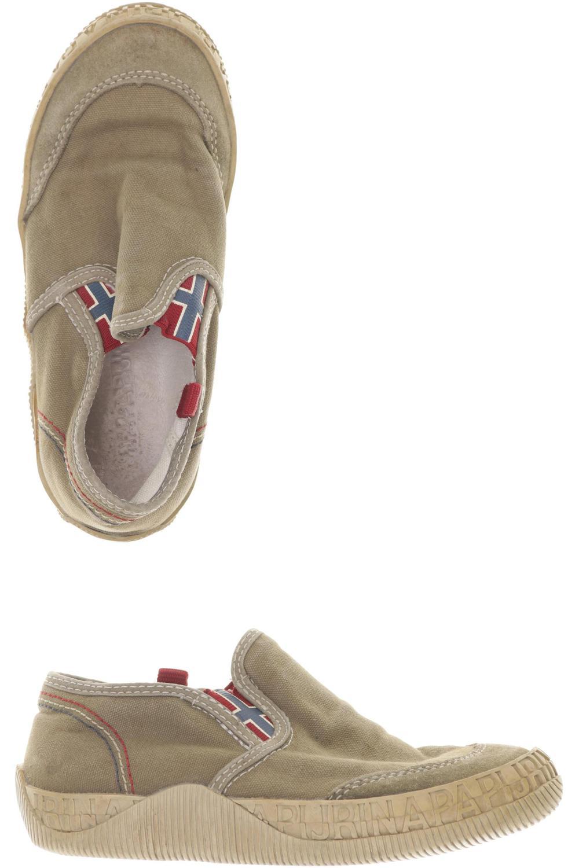 online store 7563e 1be55 Details zu Napapijri Kinderschuhe Jungen Gr. DE 31 Leder beige #06c25af