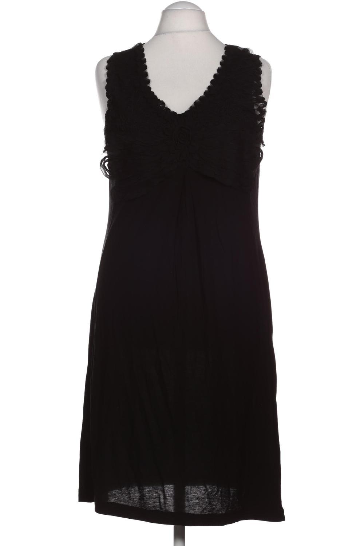 details zu oui kleid damen dress damenkleid gr. de 42 viskose schwarz  #0982a20