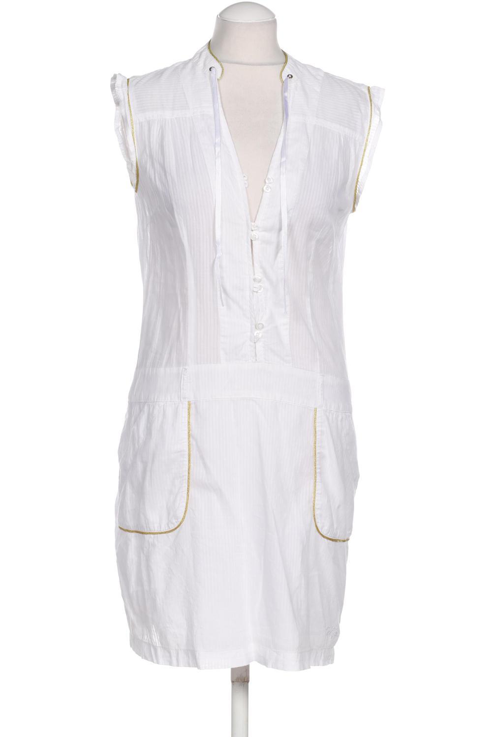 details zu pepe jeans kleid damen dress damenkleid gr. m baumwolle, viskose  weiß #3b8f561