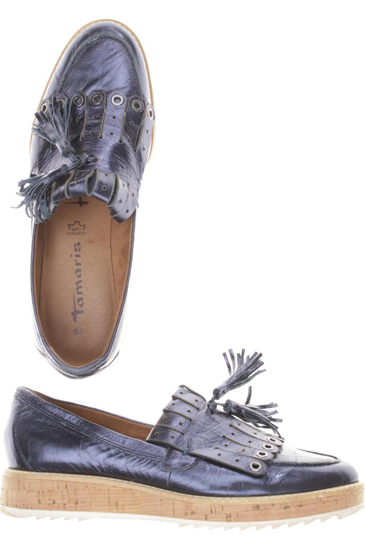 Tamaris Halbschuh Damen Slipper feste Schuhe Gr. DE 39 Leder