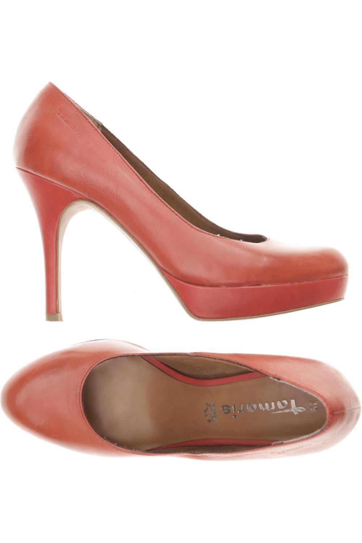 Tamaris Pumps Damen High Heels Stiletto Gr. DE 39 Leder rot