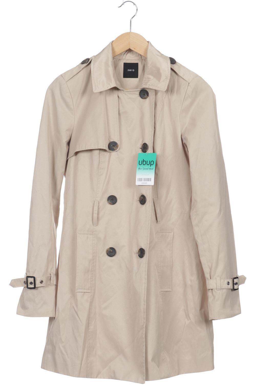 ZERO Mantel Damen Jacke Parka Gr. DE 36 Baumwolle beige